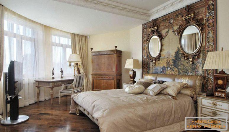 Camera da letto in stile impero - esempi di foto di elementi