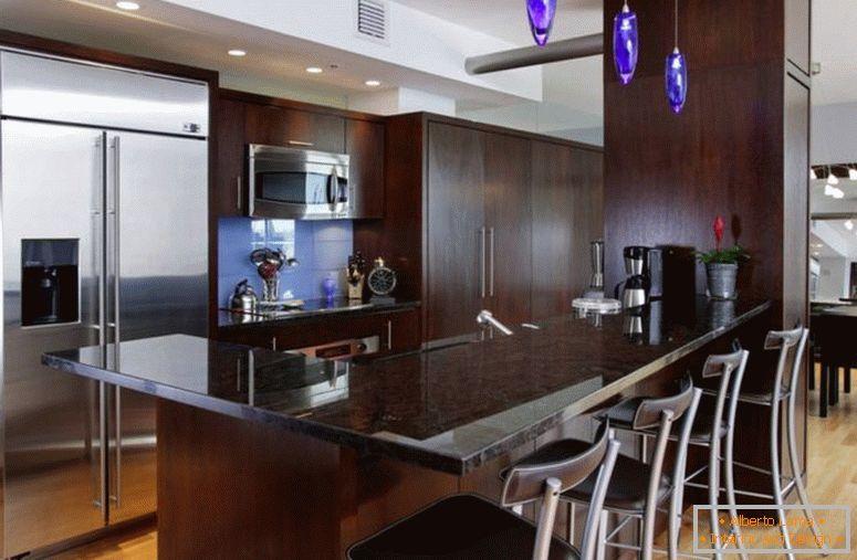 Cucine Moderne Scure.Cucina Scura 75 Foto Di Insolito Design Di Interni Di Una