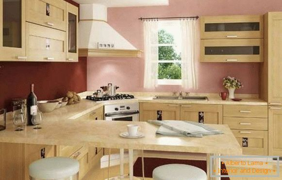 Cucina Con Bancone Bar.Cucina Ad Angolo Con Bancone Bar 25 Foto Con Idee Di