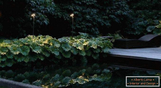 Illuminazione stradale per una casa di campagna foto
