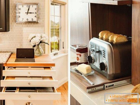 Sistemi intelligenti estraibili per la cucina: cassetti e