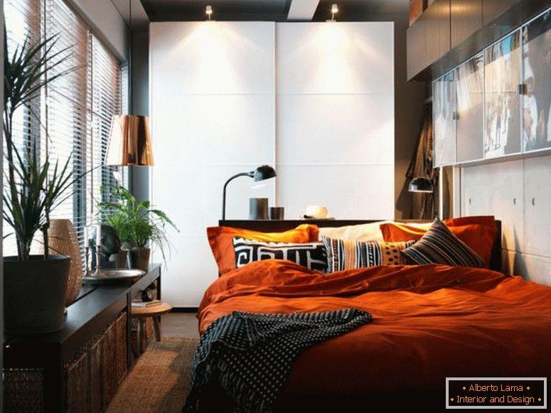 Camera da letto stretta: 57 foto di idee su come progettare