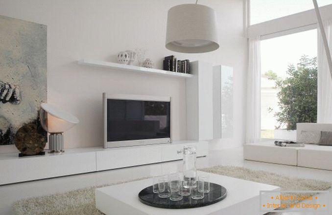 Scegli mobili bianchi nel soggiorno