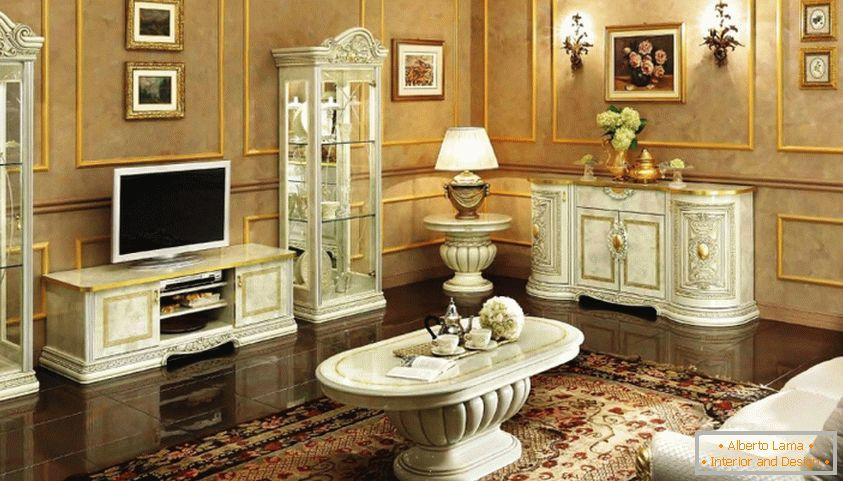 Scegli i mobili per il soggiorno in stile classico