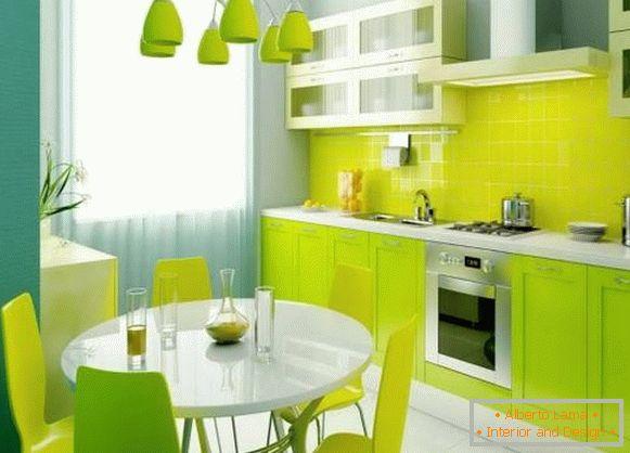 Cucina verde all\'interno - 30 foto dei migliori design